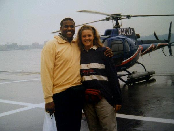 Helikoptervlucht boven NY
