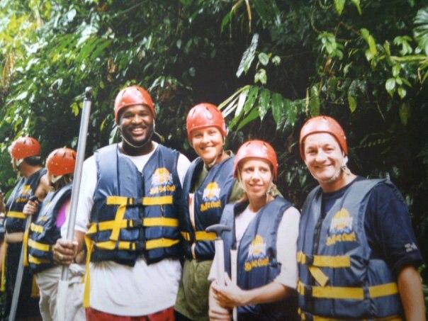 Raften op Bali met Miriam en Maurice