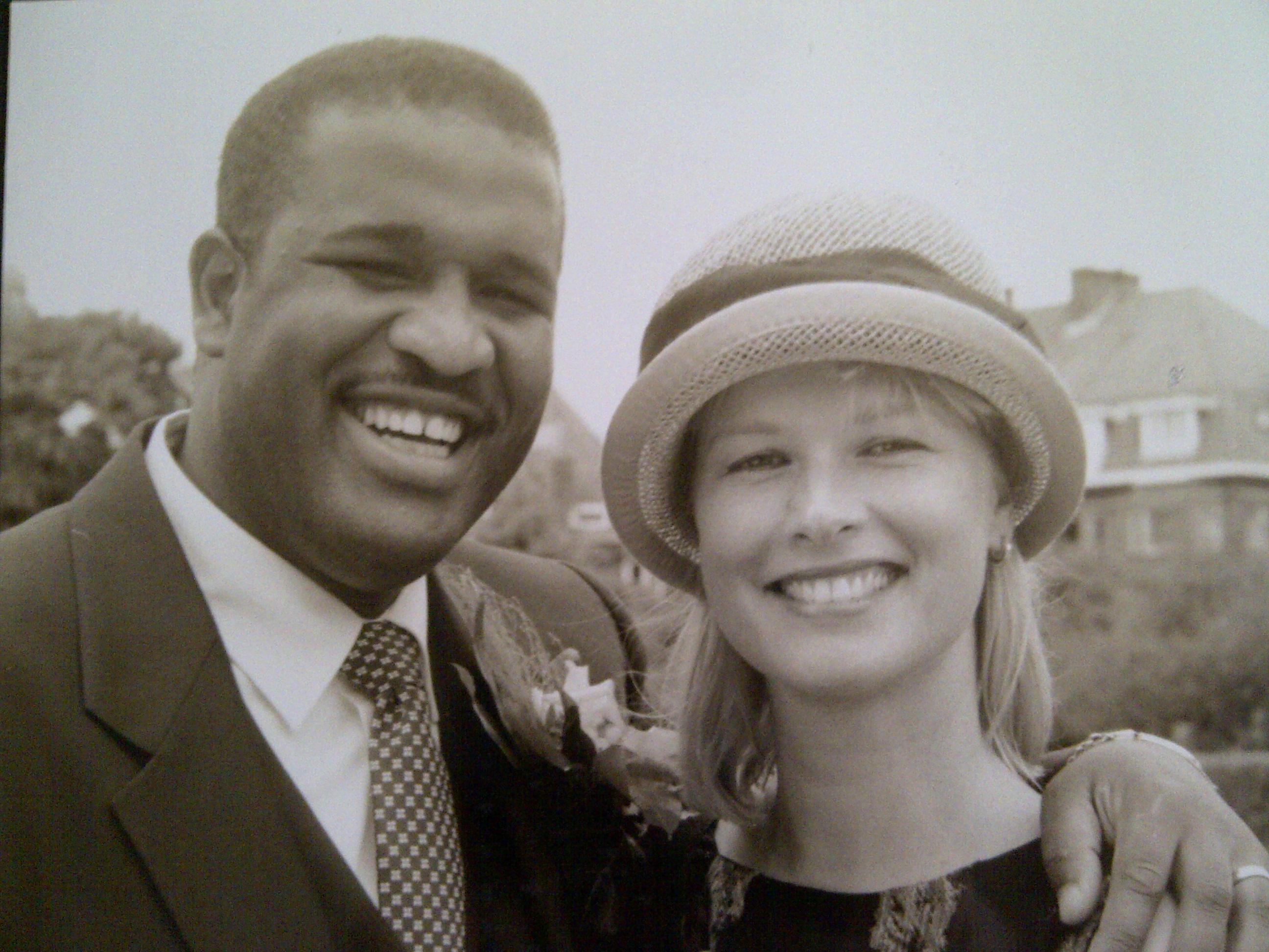 Gil & Brigitte op onze trouwdag